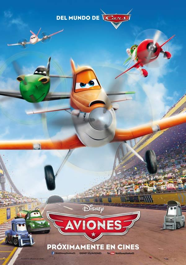 Cartel de Aviones. Imagen propiedad de The Walt Disney Company Spain